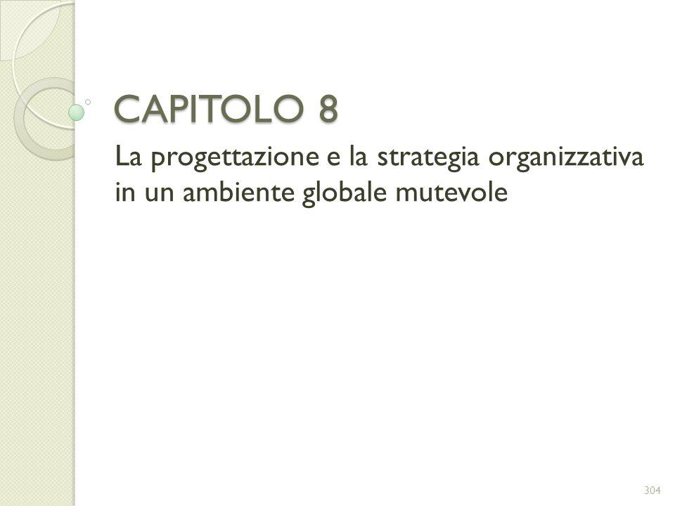 CAPITOLO 8 La progettazione e la strategia organizzativa in un ambiente globale mutevole 304