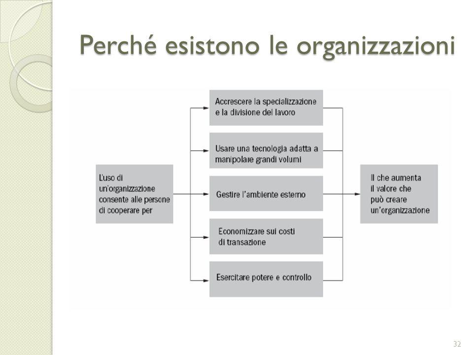 Perché esistono le organizzazioni 32