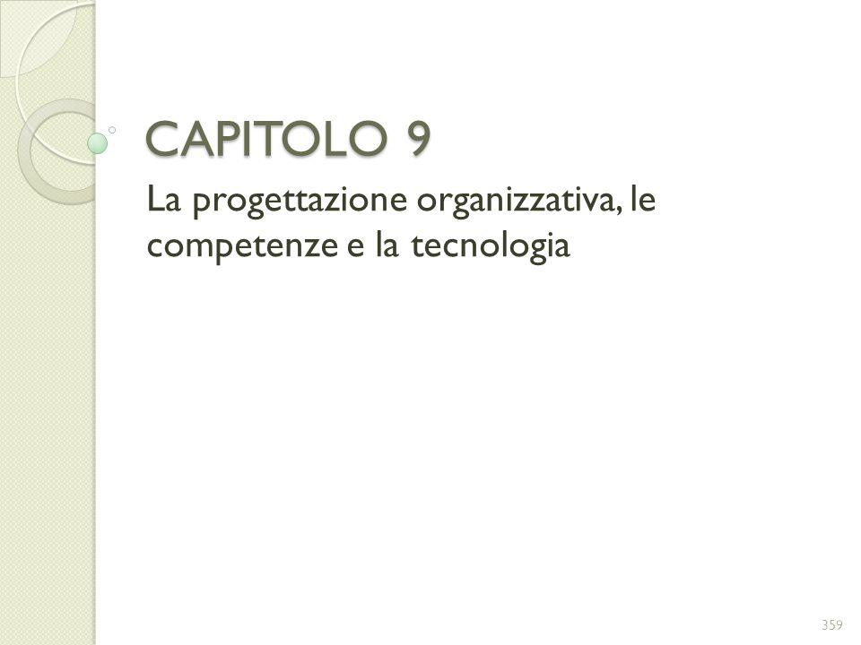 CAPITOLO 9 La progettazione organizzativa, le competenze e la tecnologia 359