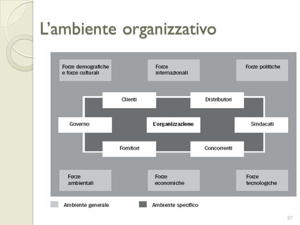 Lambiente organizzativo 87