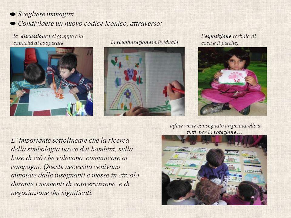 A rotazione ogni bambino appoggia il pennarello sul disegno che preferisce.