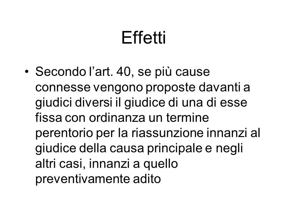 Effetti Secondo lart.