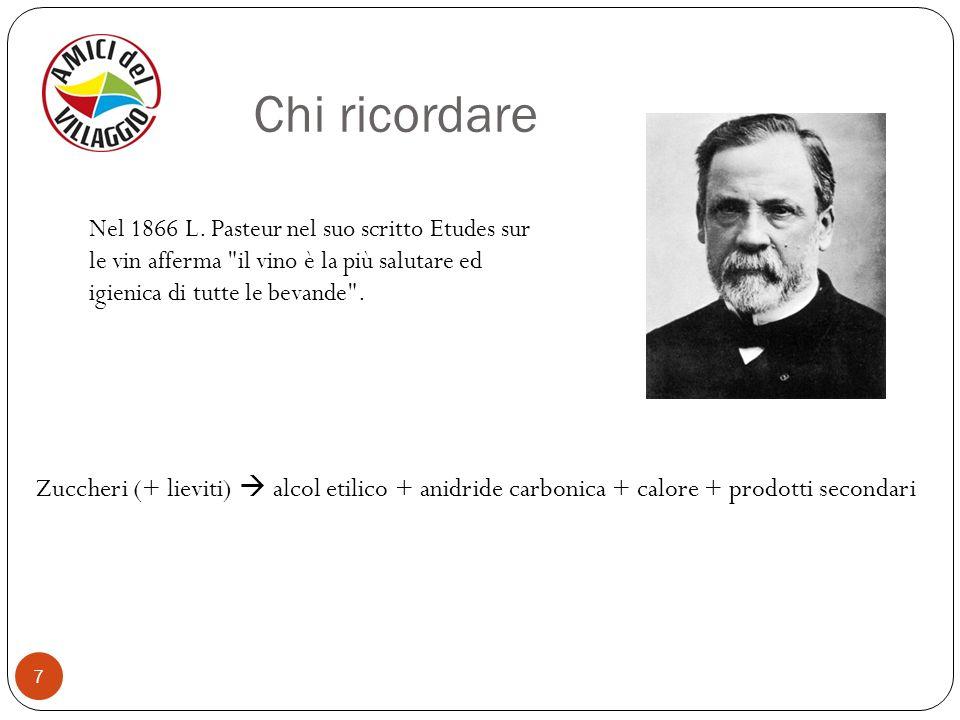 7 Nel 1866 L. Pasteur nel suo scritto Etudes sur le vin afferma