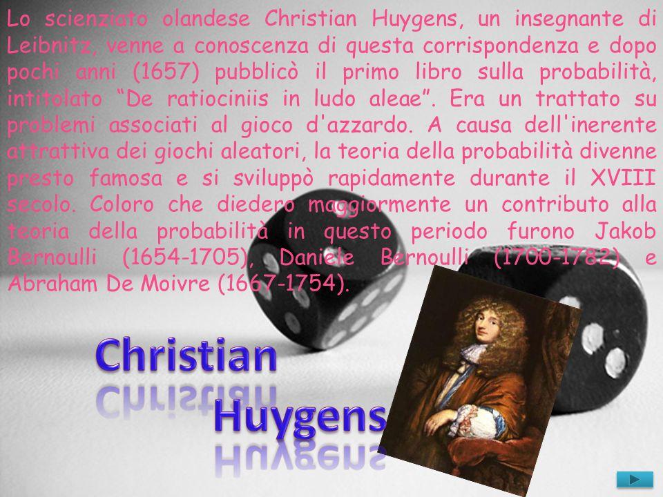 Lo scienziato olandese Christian Huygens, un insegnante di Leibnitz, venne a conoscenza di questa corrispondenza e dopo pochi anni (1657) pubblicò il