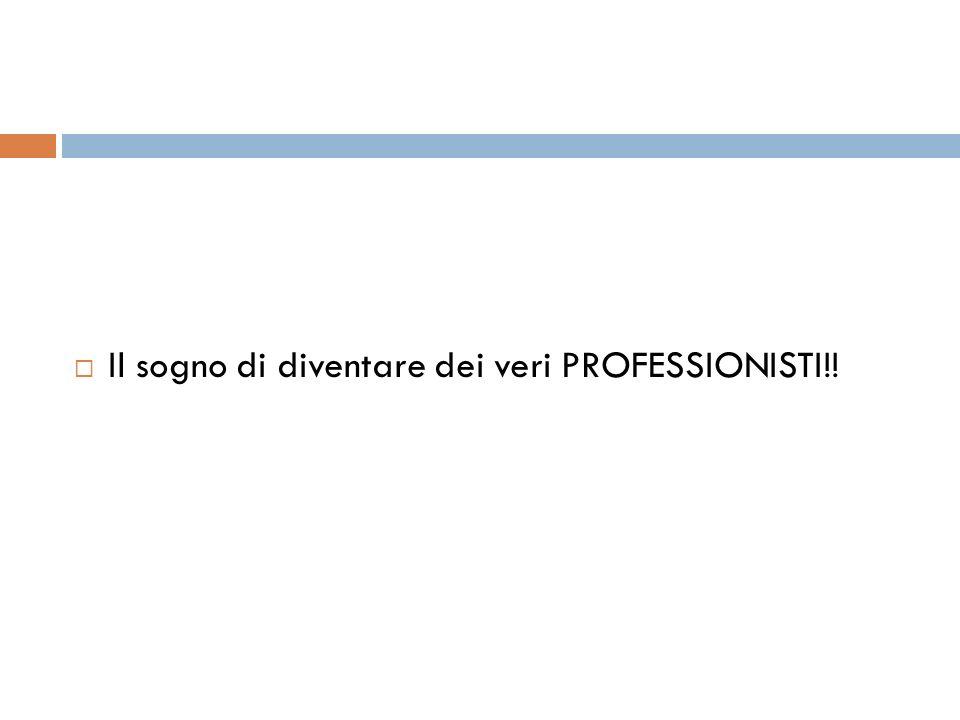 Il sogno di diventare dei veri PROFESSIONISTI!!