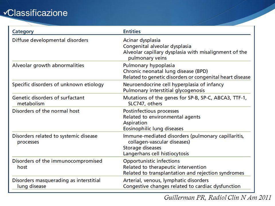 Guillerman PR, Radiol Clin N Am 2011 Classificazione