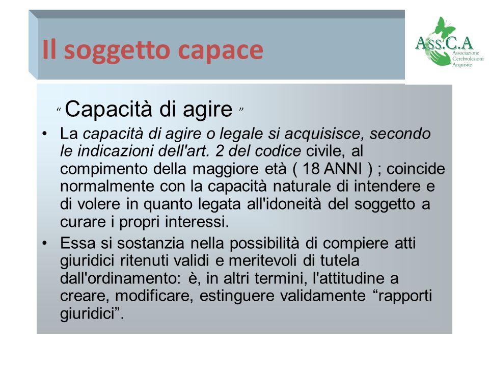 LAmministrazione di Sostegno Artt.406, 417 C.C.