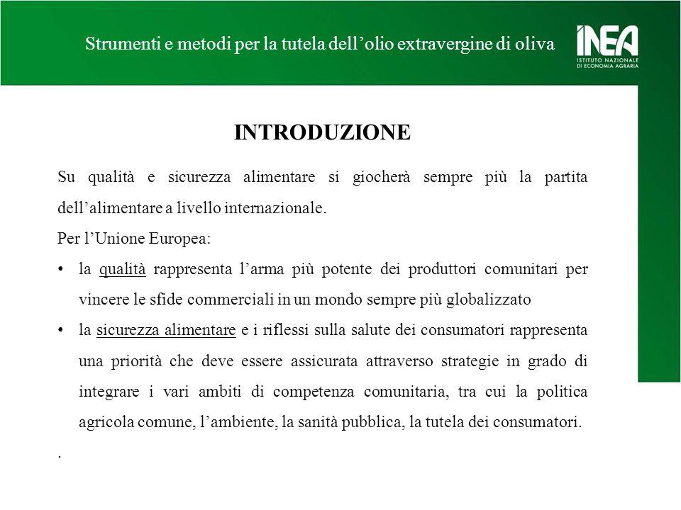 Strumenti e metodi per la tutela dellolio extravergine di oliva SOFTWARE – REPORT PREZZI