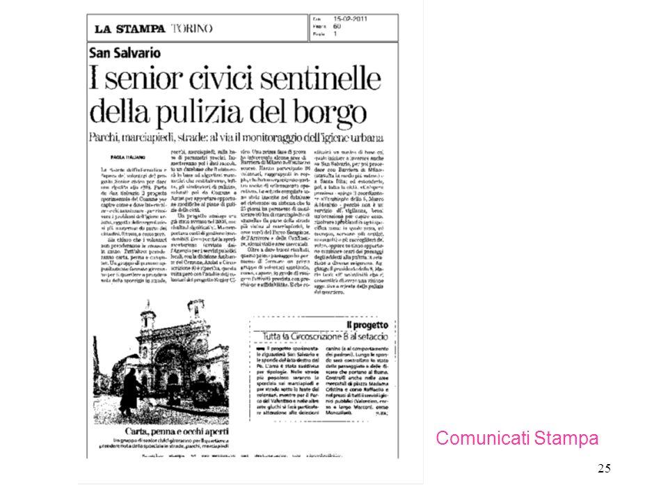 25 Comunicati Stampa