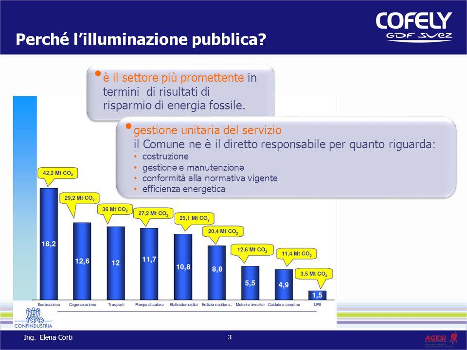 Perché lilluminazione pubblica? è il settore più promettente in termini di risultati di risparmio di energia fossile. gestione unitaria del servizio i