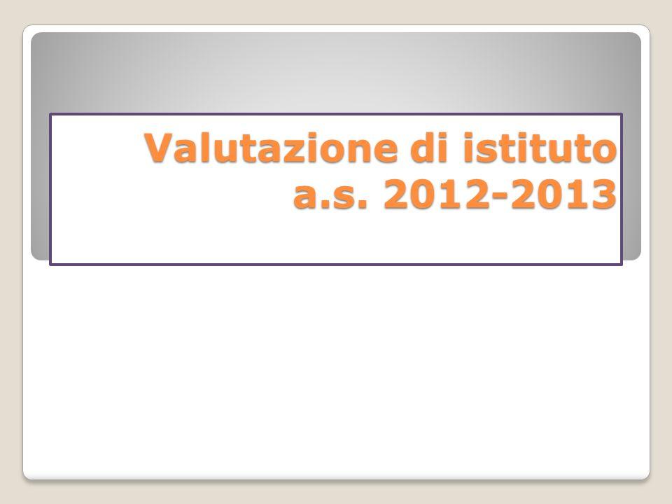 Valutazione di istituto a.s. 2012-2013