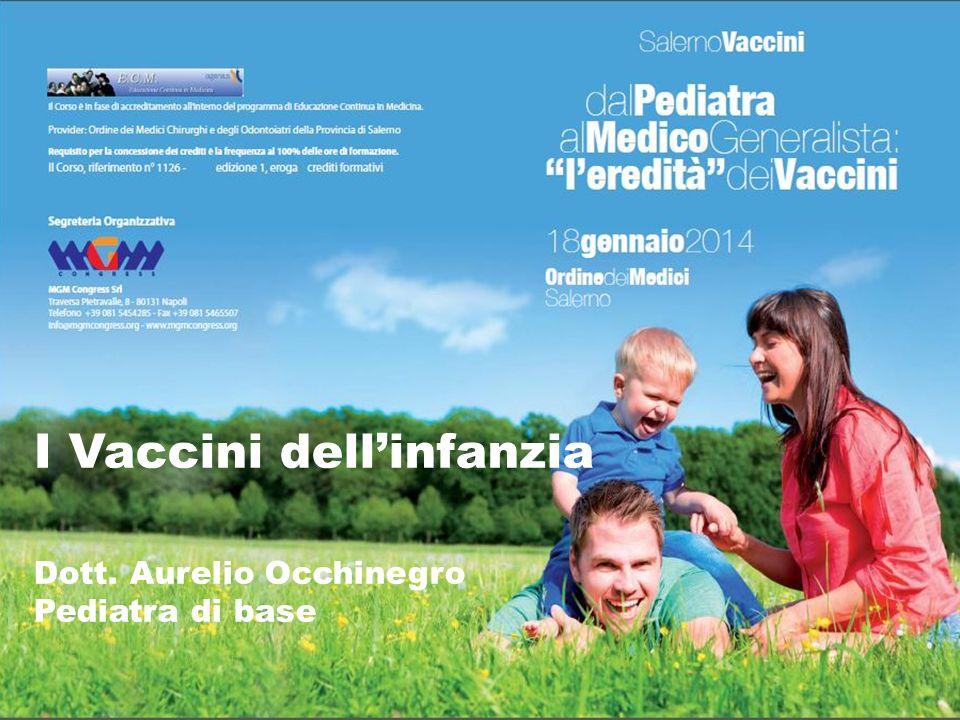 I Vaccini dellinfanzia Dott. Aurelio Occhinegro Pediatra di base