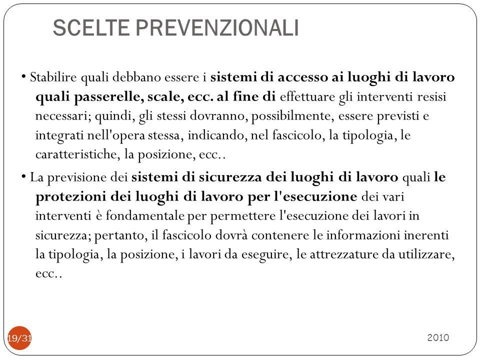 SCELTE PREVENZIONALI 2010 20/31