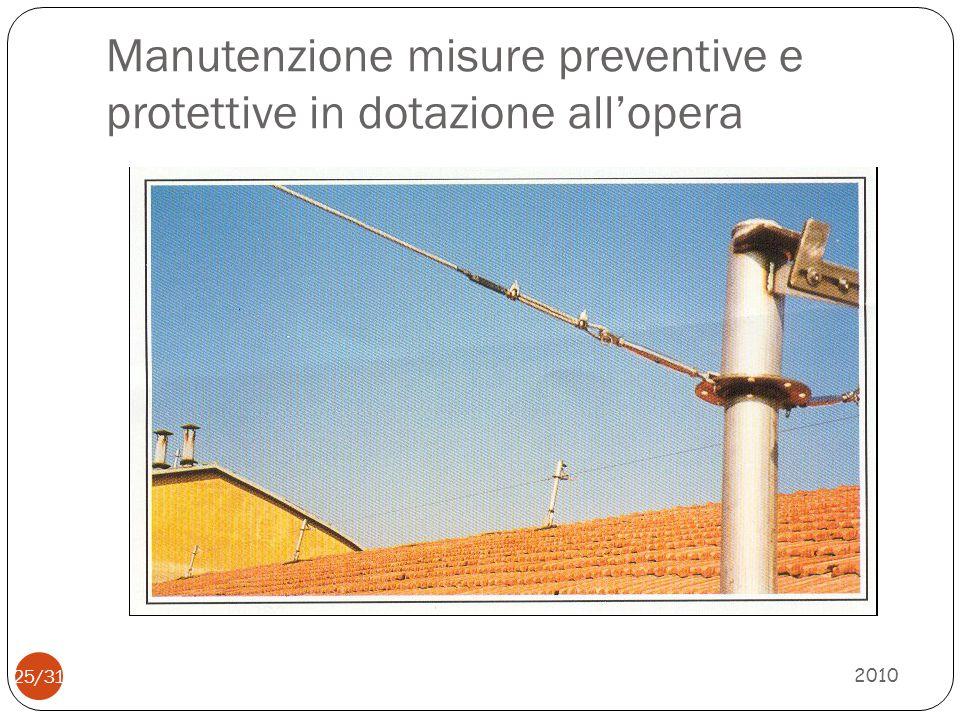 SCELTE PREVENZIONALI 2010 26/31 Anche i punti di allacciamento dellenergia devono essere preventivamente definiti in modo che, al momento dell esecuzione dei futuri lavori, sia disponibile l energia elettrica necessaria per l alimentazione delle attrezzature e l illuminazione delle aree di lavoro.