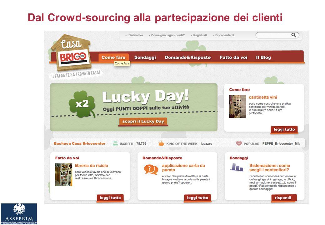 Dal Crowd-sourcing alla partecipazione dei clienti