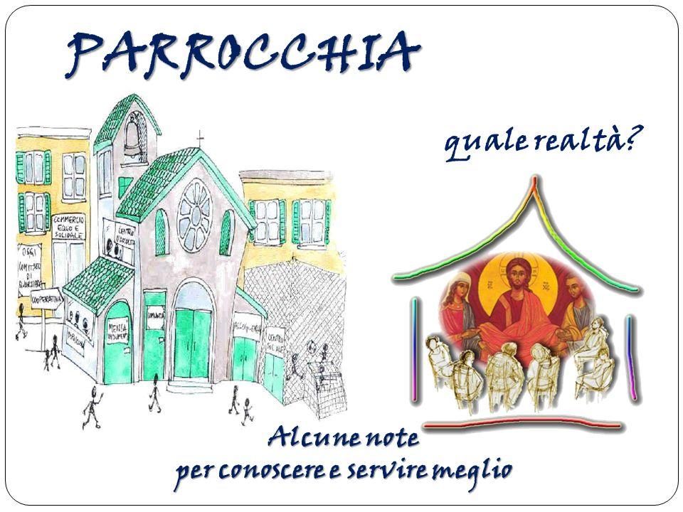 Parrocchia significa dunque abitazione provvisoria , dimora temporanea e questo si applica molto bene alla Chiesa locale: è infatti per il cristiano una comunità di passaggio.