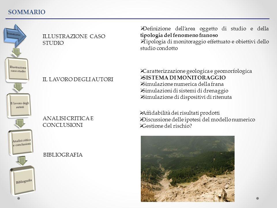 SOMMARIO ILLUSTRAZIONE CASO STUDIO IL LAVORO DEGLI AUTORI ANALISI CRITICA E CONCLUSIONI BIBLIOGRAFIA Affidabilità dei risultati prodotti Discussione d