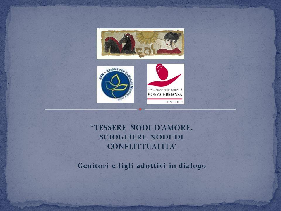 TESSERE NODI DAMORE, SCIOGLIERE NODI DI CONFLITTUALITA Genitori e figli adottivi in dialogo