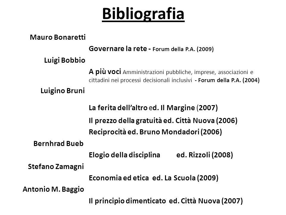 Bibliografia Mauro Bonaretti Governare la rete - Forum della P.A.