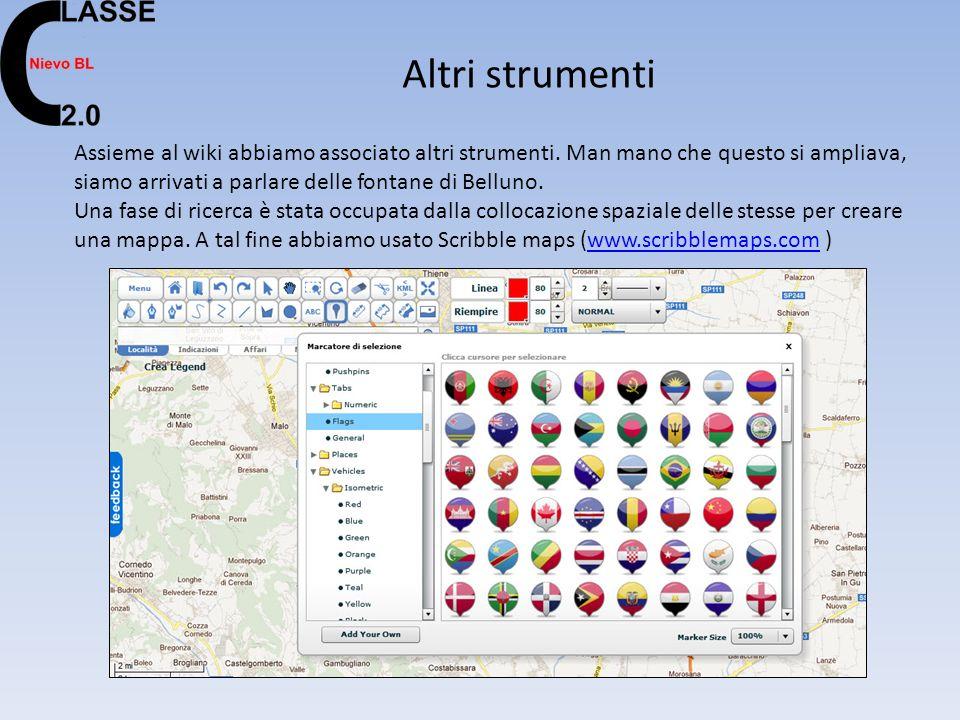 Altri strumenti Assieme al wiki abbiamo associato altri strumenti.