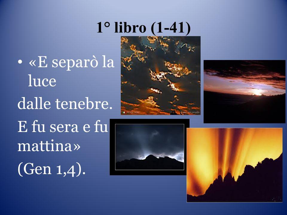 1° libro (1-41) «E separò la luce dalle tenebre. E fu sera e fu mattina» (Gen 1,4).