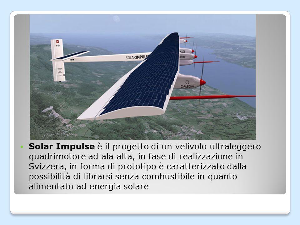 Il Solar Impulse ha compiuto il suo primo volo alle 10.30 del 7 aprile 2010 dall aerodromo militare di Payerne, nel Canton Vaud, in Svizzera, l aereo è atterrato verso le 12:00 dopo un volo di circa 87 minuti,e dopo aver raggiunto un altitudine di 1200 metri.