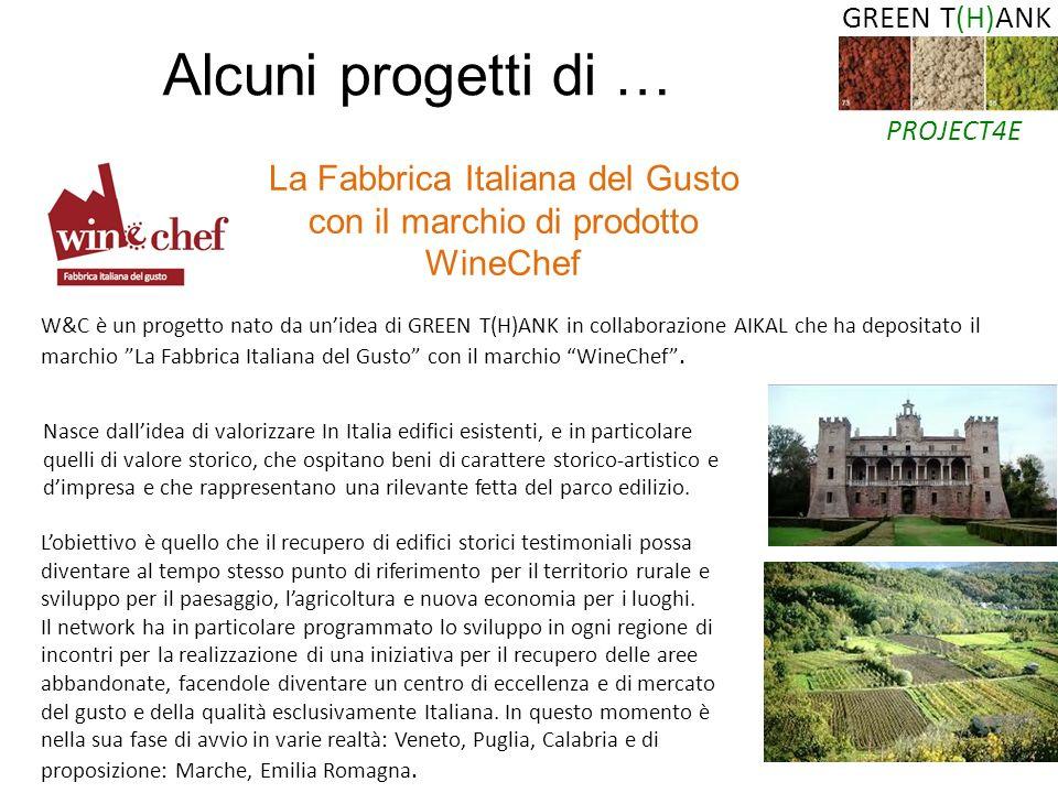 La Fabbrica Italiana del Gusto con il marchio di prodotto WineChef W&C è un progetto nato da unidea di GREEN T(H)ANK in collaborazione AIKAL che ha de