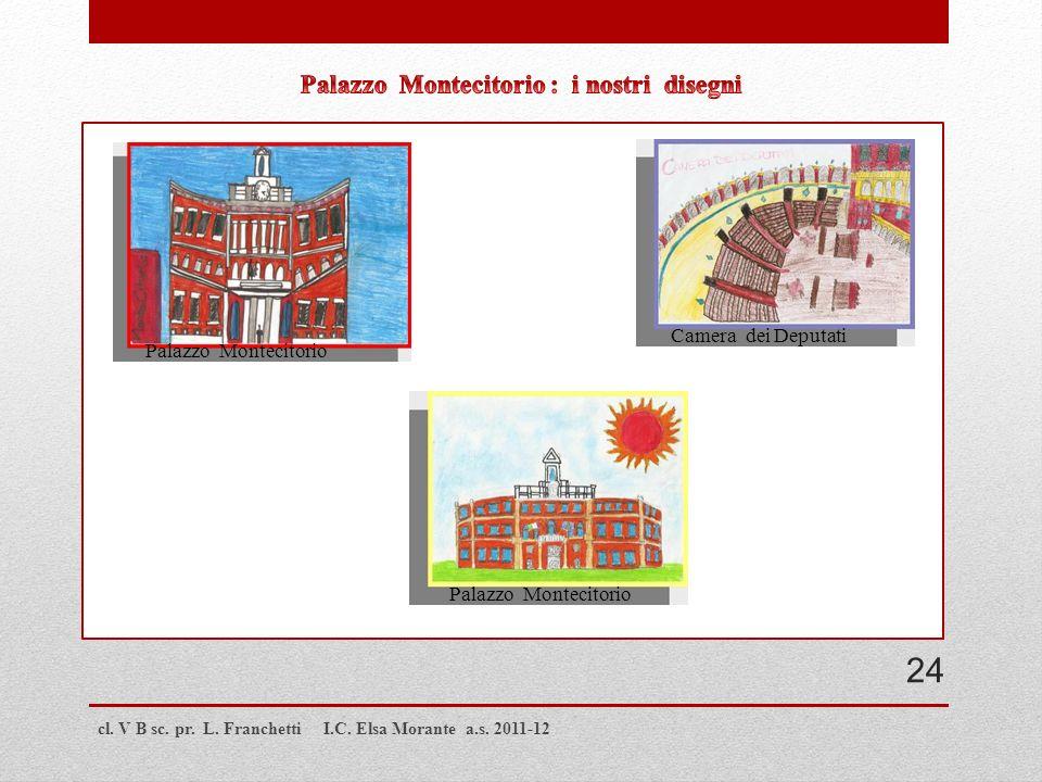 cl. V B sc. pr. L. Franchetti I.C. Elsa Morante a.s. 2011-12 Palazzo Montecitorio Camera dei Deputati 24