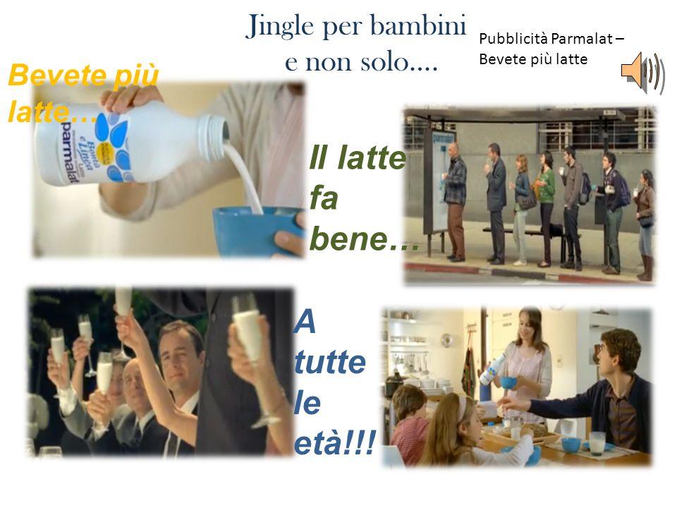 Jingle per bambini e non solo…. Bevete più latte… Il latte fa bene… A tutte le età!!! Pubblicità Parmalat – Bevete più latte