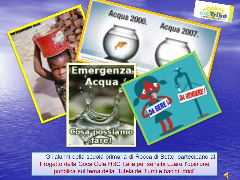 Gli alunni della scuola primaria di Rocca di Botte partecipano al Progetto della Coca Cola HBC Italia per sensibilizzare l'opinione pubblica sul tema