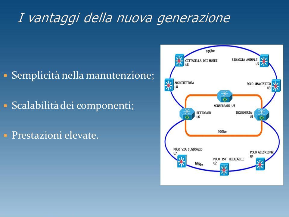 Semplicità nella manutenzione; Scalabilità dei componenti; Prestazioni elevate.