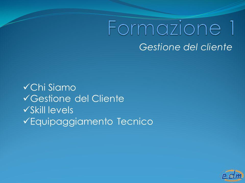 Gestione del cliente Chi Siamo Gestione del Cliente Skill levels Equipaggiamento Tecnico