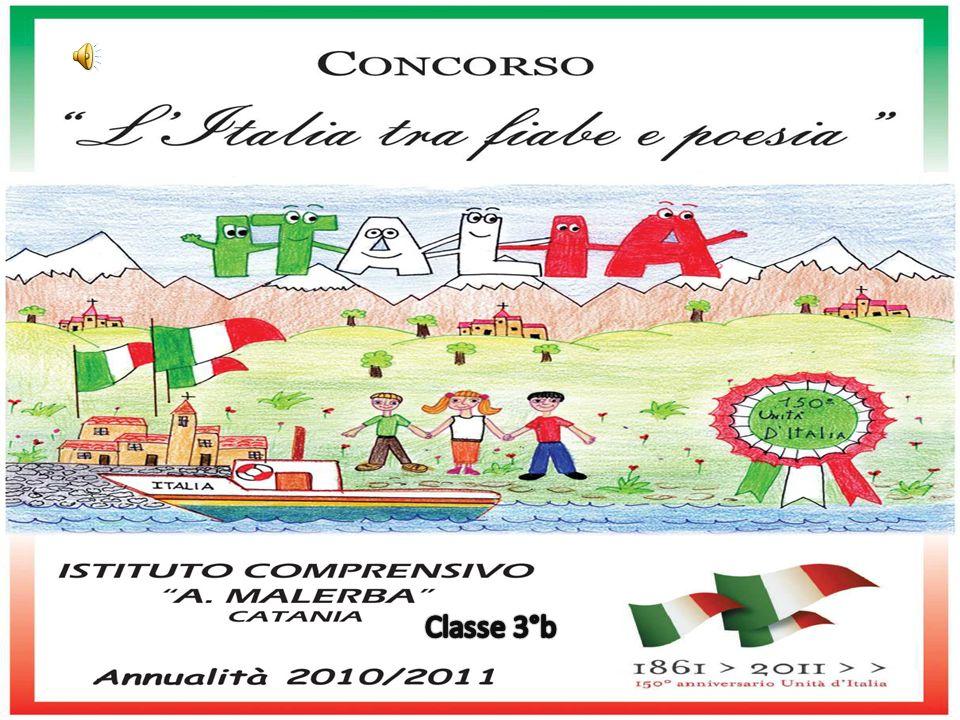 Italia Italia bella.Terra armoniosa e allegra, di prati, boschi e mari circondata.
