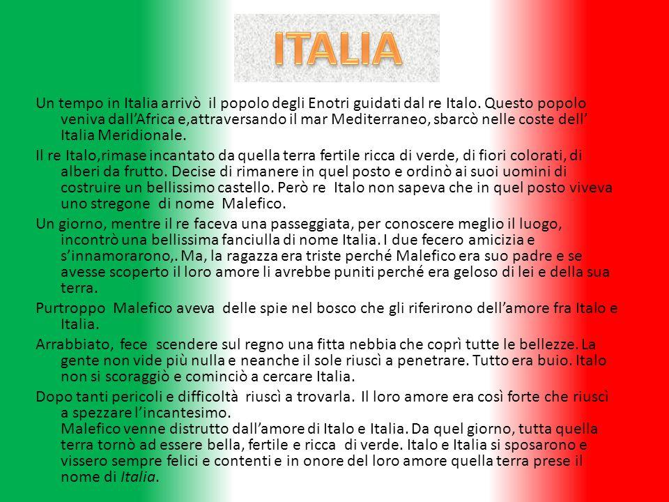 Un tempo in Italia arrivò il popolo degli Enotri guidati dal re Italo. Questo popolo veniva dallAfrica e,attraversando il mar Mediterraneo, sbarcò nel