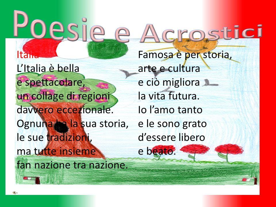 Italia LItalia è bella e spettacolare, un collage di regioni davvero eccezionale. Ognuna ha la sua storia, le sue tradizioni, ma tutte insieme fan naz