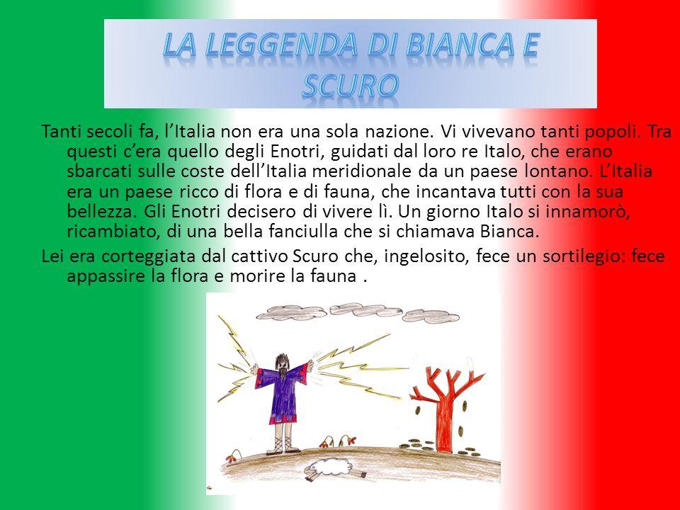 Tanti secoli fa, lItalia non era una sola nazione. Vi vivevano tanti popoli. Tra questi cera quello degli Enotri, guidati dal loro re Italo, che erano