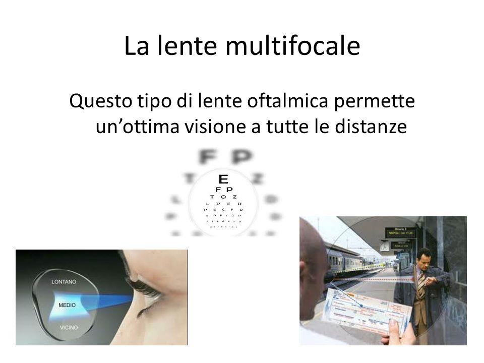 La lente multifocale Questo tipo di lente oftalmica permette unottima visione a tutte le distanze