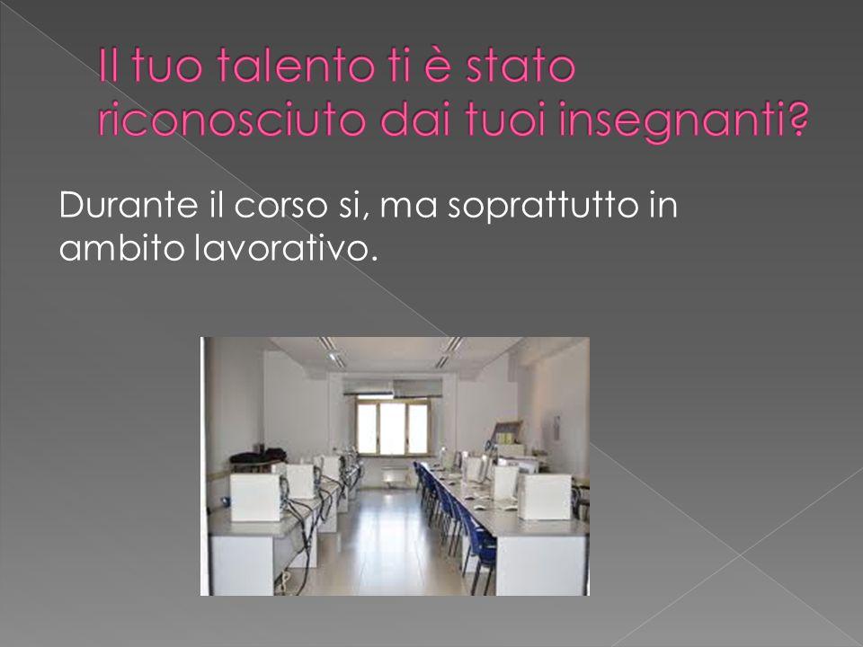 Ho scelto lo studio allistituto Casale di Vigevano, corso di ragioneria.