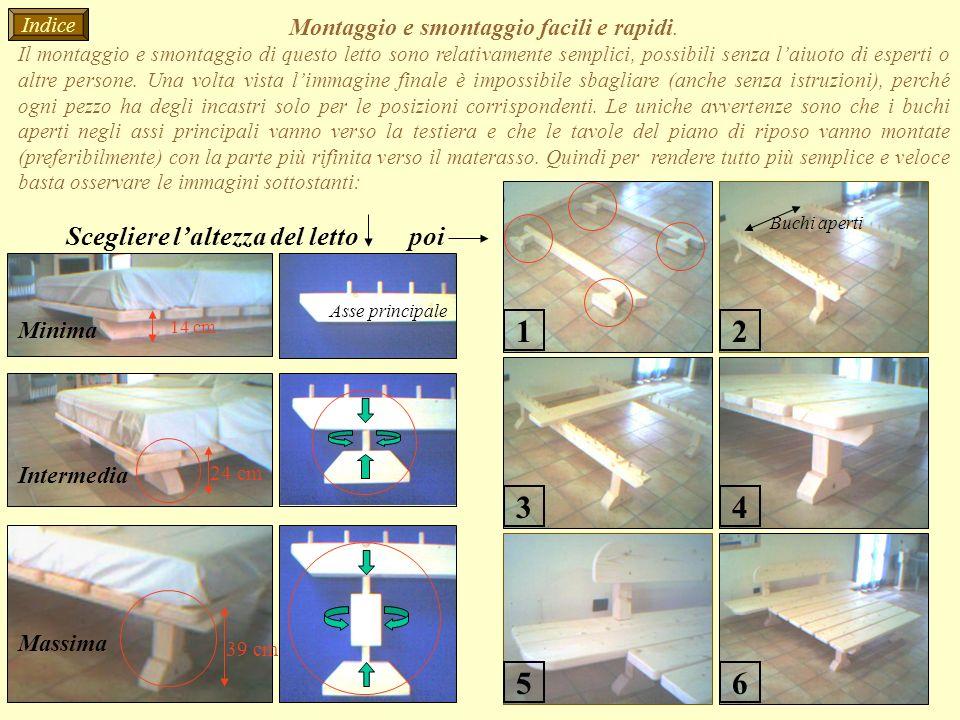 Montaggio e smontaggio facili e rapidi. Il montaggio e smontaggio di questo letto sono relativamente semplici, possibili senza laiuoto di esperti o al