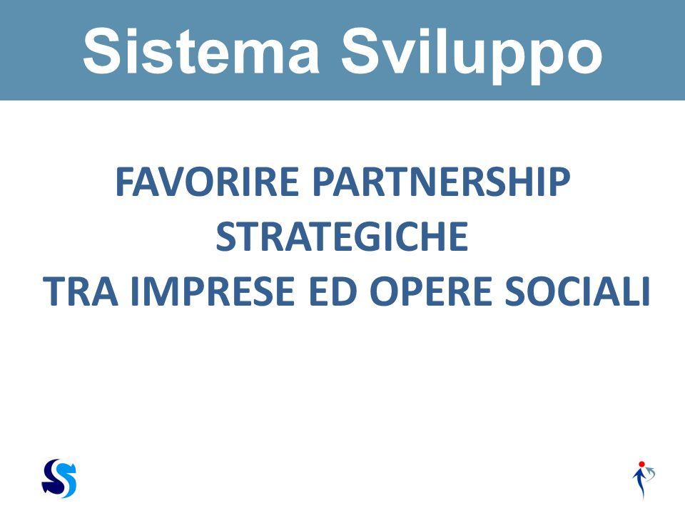 FAVORIRE PARTNERSHIP STRATEGICHE TRA IMPRESE ED OPERE SOCIALI Sistema Sviluppo