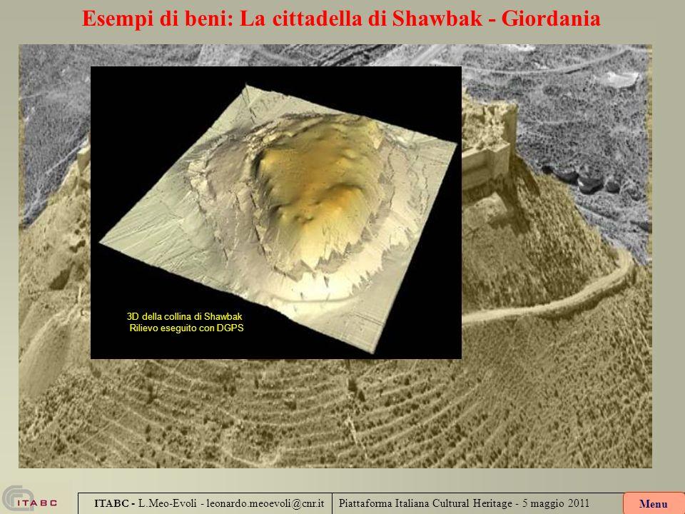 Piattaforma Italiana Cultural Heritage - 5 maggio 2011 ITABC - L.Meo-Evoli - leonardo.meoevoli@cnr.it Esempi di beni: La cittadella di Shawbak - Giord