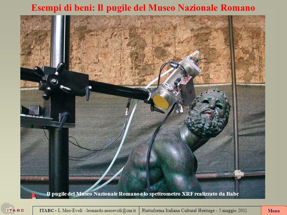 Piattaforma Italiana Cultural Heritage - 5 maggio 2011 ITABC - L.Meo-Evoli - leonardo.meoevoli@cnr.it Esempi di beni: Il pugile del Museo Nazionale Ro