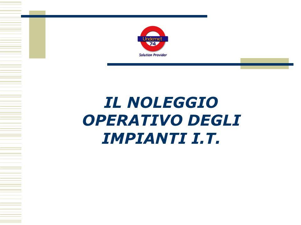 IL NOLEGGIO OPERATIVO DEGLI IMPIANTI I.T.