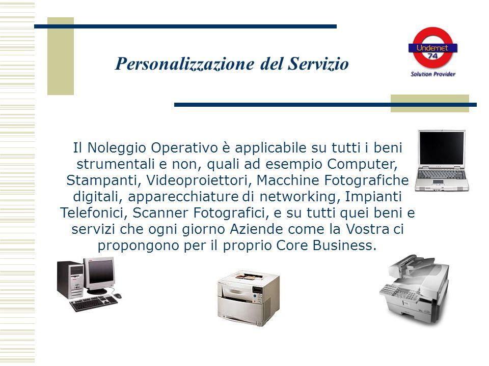 Il Noleggio Operativo è applicabile su tutti i beni strumentali e non, quali ad esempio Computer, Stampanti, Videoproiettori, Macchine Fotografiche di