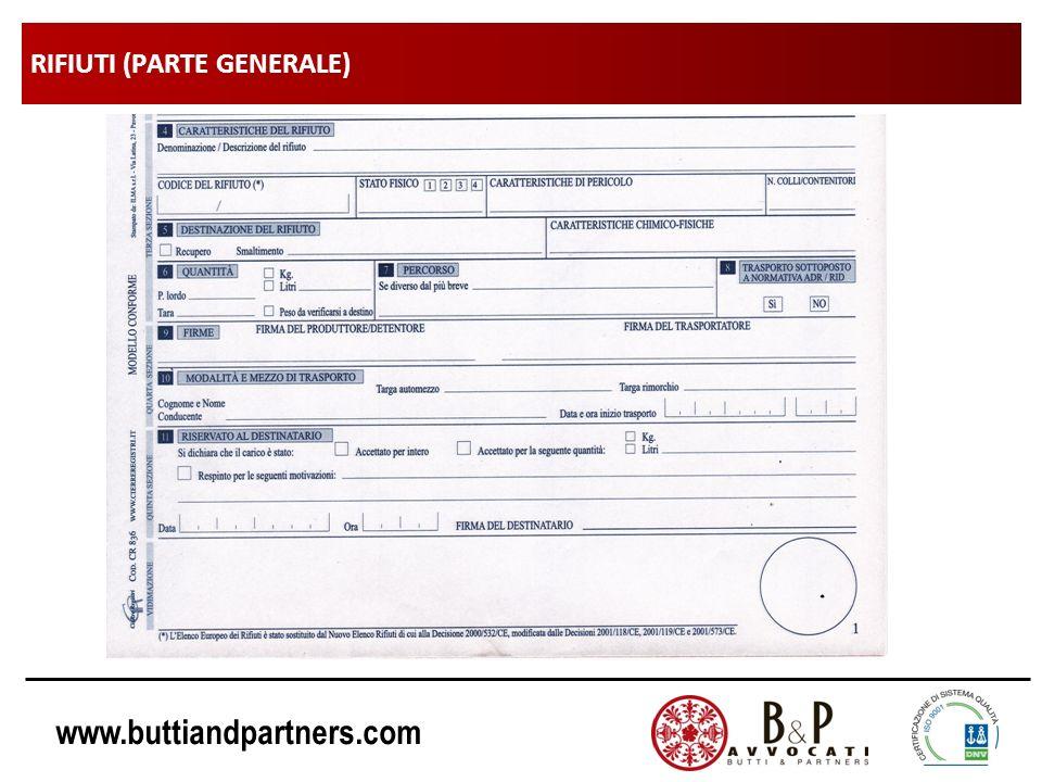 www.buttiandpartners.com RIFIUTI (PARTE GENERALE)
