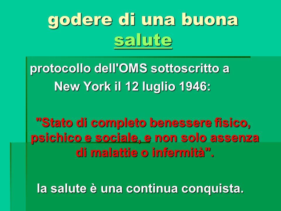 godere di una buona salute salute protocollo dell'OMS sottoscritto a protocollo dell'OMS sottoscritto a New York il 12 luglio 1946: New York il 12 lug