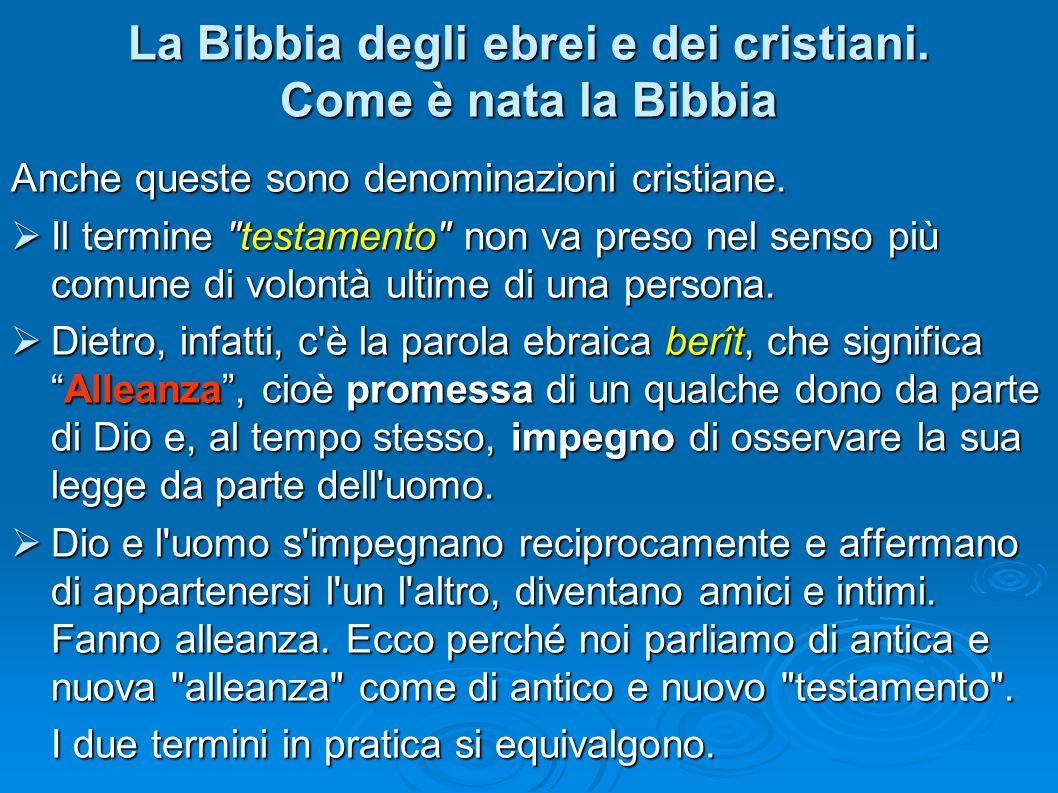 Anche queste sono denominazioni cristiane. Il termine