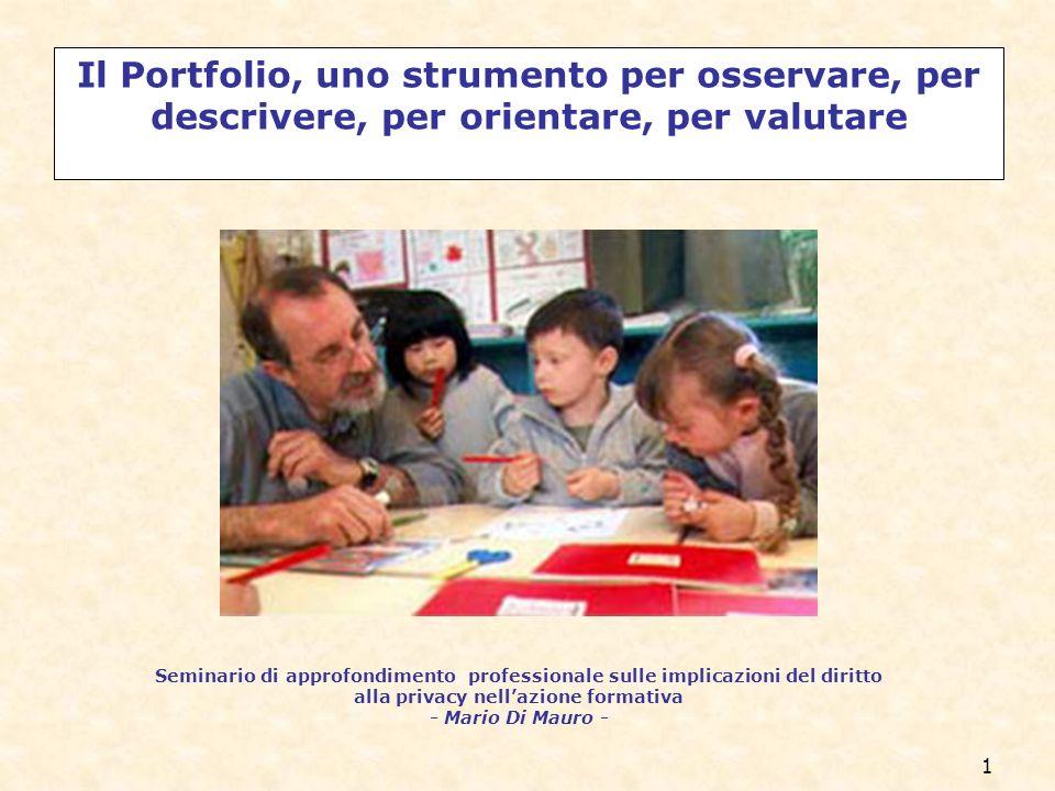 12 La sequenza formativa per la Riforma Moratti Il portfolio delle competenze.