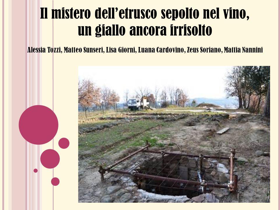 Il mistero delletrusco sepolto nel vino, un giallo ancora irrisolto Alessia Tozzi, Matteo Sunseri, Lisa Giorni, Luana Cardovino, Zeus Soriano, Mattia