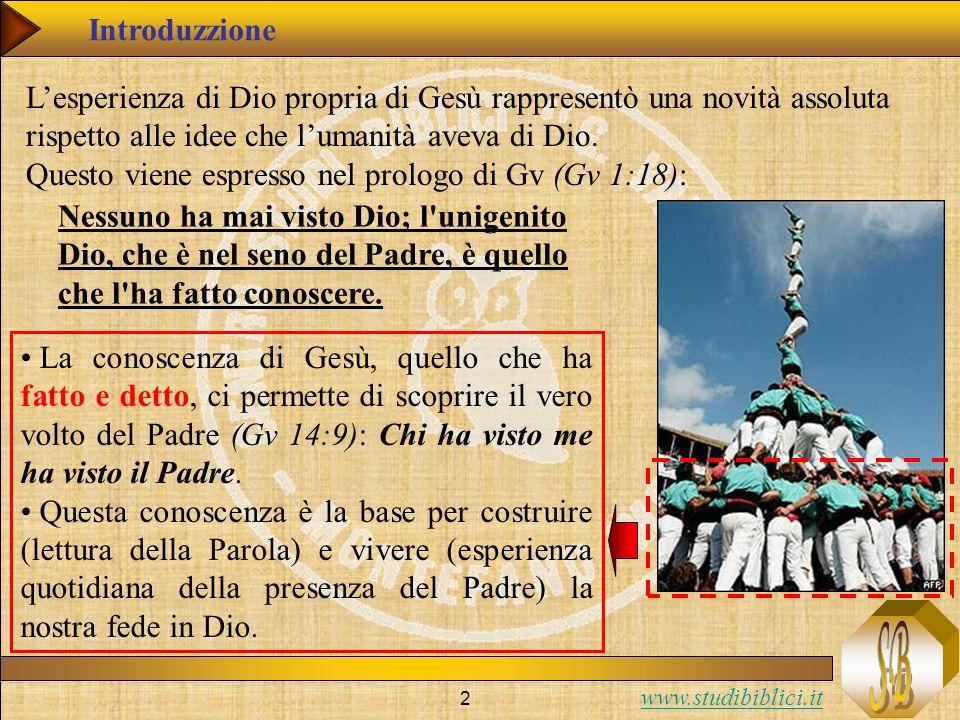 www.studibiblici.it 3 La realtà di Dio è espressa nellAT come realtà incomprensibile e occulta.